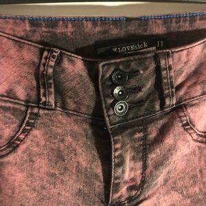 LoveSick Stretch Skinny Stonewashed Jeans size 11
